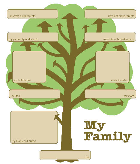 plain family tree template - helpful forms and sheets