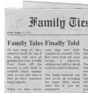 Create Your Own Newspaper Story FamilyTreecom