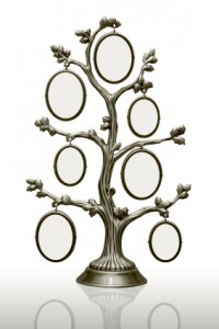 metal tree with frames