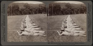 1900-West Point cadets drill