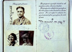 F. Scott Fitzgerald-passport