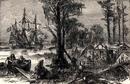 jamestown 1607 1620 1607 may 13: 104 male settlers 1620 the mayflower sails from holland and england to america (plymouth) 1622 march 22: the powhatan indian attack kills 347 colonists, setting off a war that lasted a decade jamestown island has been given to two large plantations.