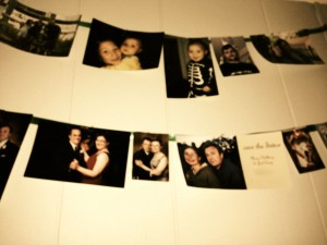 photos on ribbon branch