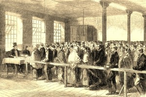 L0004799 The Cotton Famine, Manchester, 19th century.