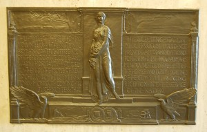 WWI Bronze Tablet (colorized)