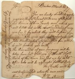 military--letters-March 1777