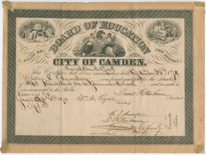 African-New Jersey second class certificate-Mary Bunday-1874