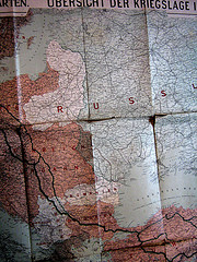 WWI in Eastern Europe map
