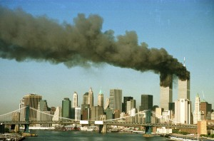 FILE PHOTO OF SMOKE RISING FROM WORLD TRADE CENTER AFTER ATTACK.