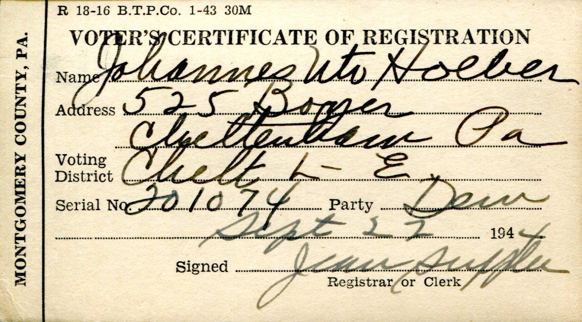 Gather Voter Information. Registration Forms. | FamilyTree.com