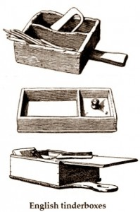 antiques-wooden tinderboxes English