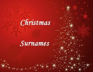 Surnames--christmas