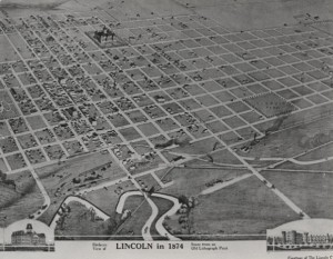land-map lincoln Neb 1874