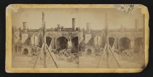 CW-ruins of Offier's quarters at Ft Sumter