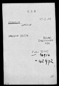WW I--Arthur Kershaw