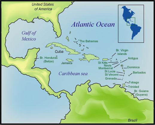 British Slave Owners FamilyTreecom - Map of dominica caribbean sea