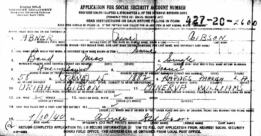 Social Security Application Details | Familytree.Com