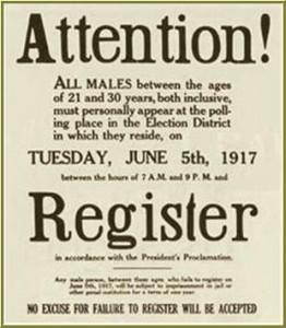 WWI Reg-Poster