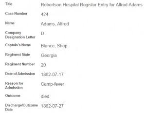 Conf hospital- adams, alfred