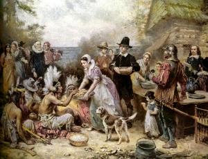 pilgrims-Indians