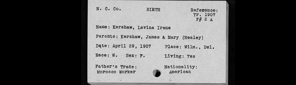 1907 birth -Kershaw