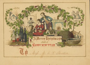 Christmas Cards-American 1840s