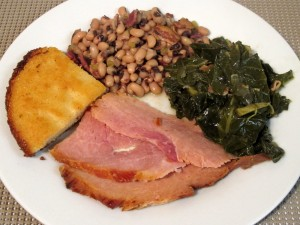 new years-ham and beans