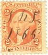 stamp-2 cent-1866