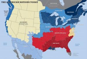 American regions map
