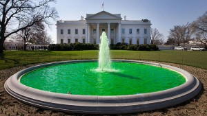 White_House_fountain_dyed_green