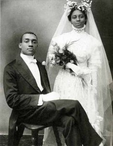 NYC-wedding couple in 1910
