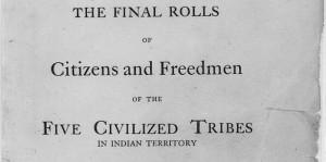 Dawes Rolls- Poster Indians