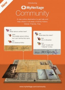 MyHeritage Launched a Community Section  Find more genealogy blogs at FamilyTree.com