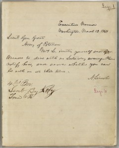 Abraham Lincoln to Ulysses S. Grant