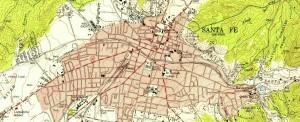 Maps-Santa FE, NM-1950s