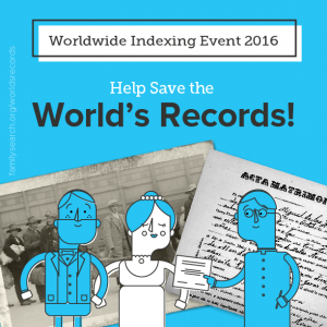 FamilySearch is Having a Worldwide Indexing Event  Find more genealogy blogs at FamilyTree.com