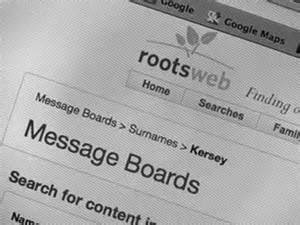 message board-rootsweb