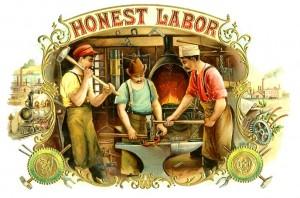 labor-vintage card