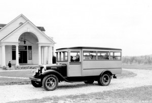 school-bus in Neb. 1920s