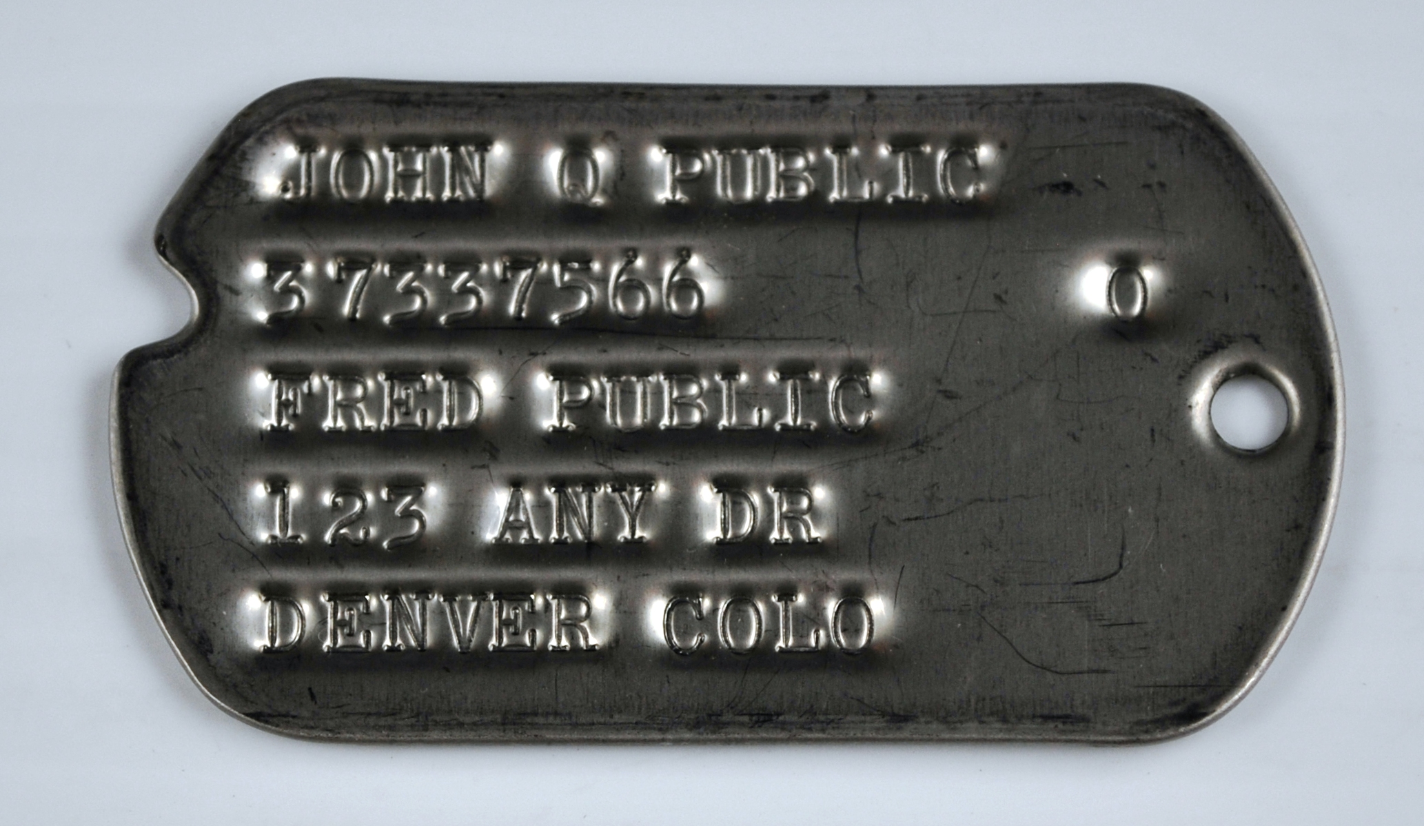 World War  Dog Tags Serial Number
