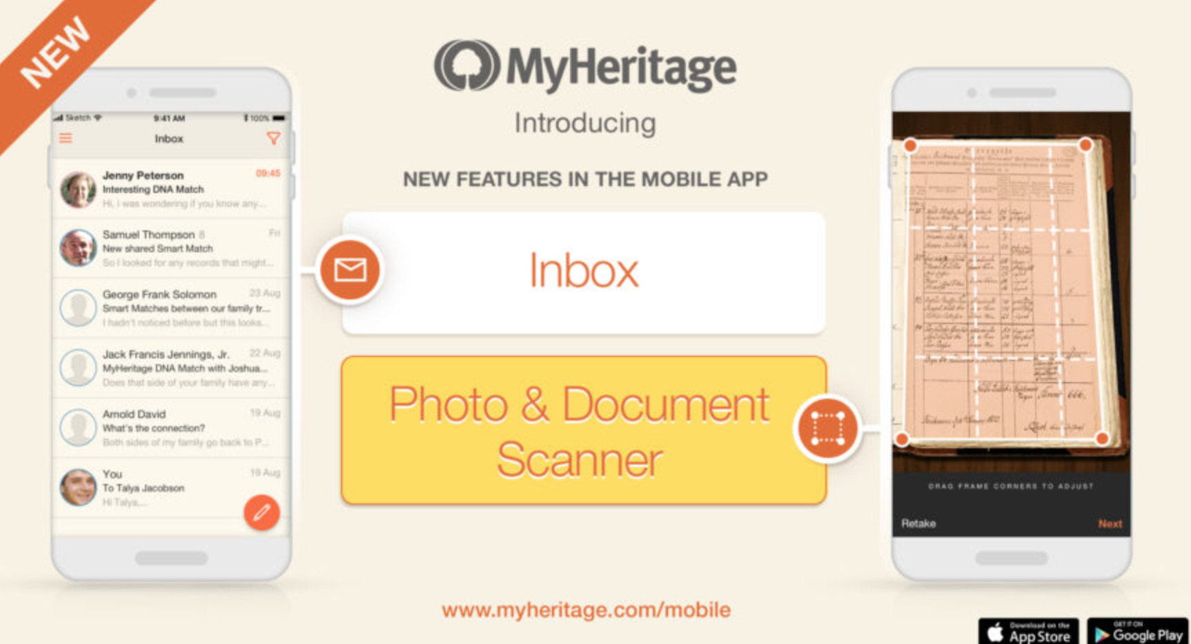 MyHeritage Added New Features to its Mobile App | FamilyTree com