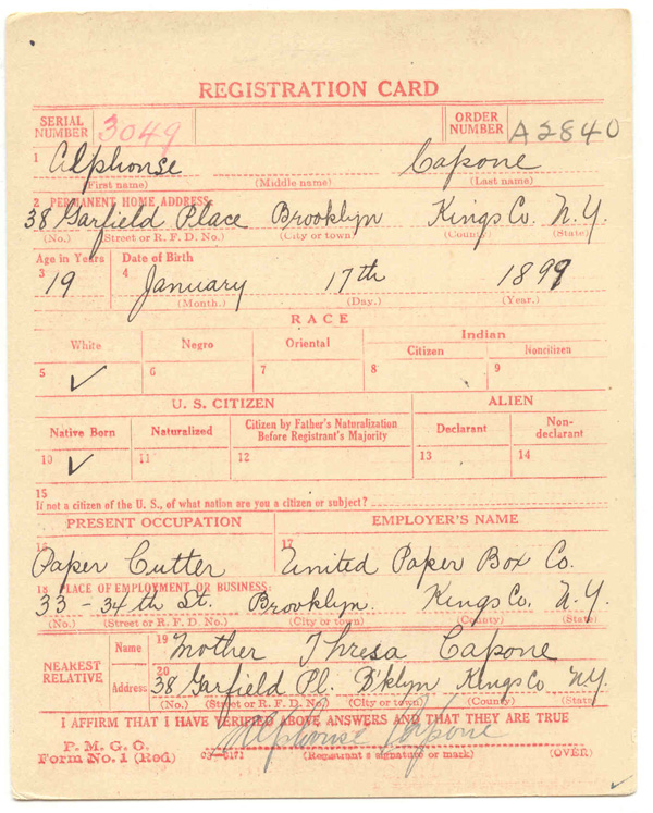 World War One Draft Registrations – the Notable Names | FamilyTree com